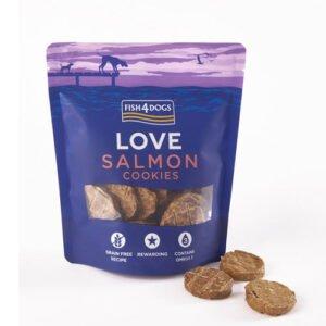 Foto av pose med Salmon Cookies fra Fish4Dogs