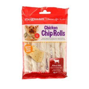 Bilde av pakke med kyllingruller - godbit til hund fra Dogman.