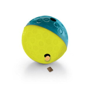 Godbitball grønn og blå. Aktivitetsleke til hund.