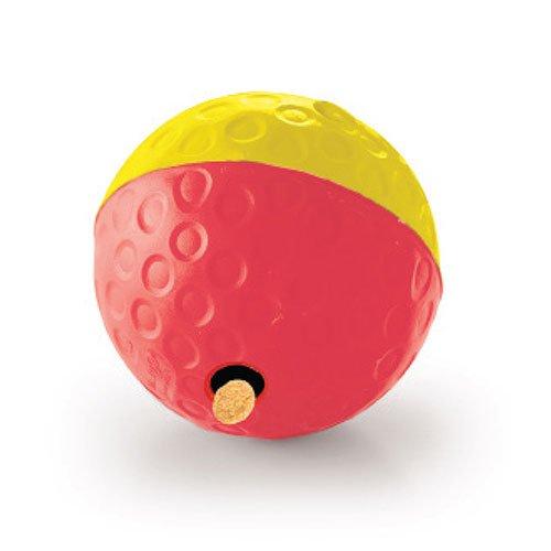 Godbitball rød og gul. Aktivitetsleke til hund.
