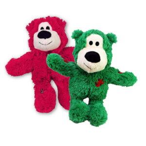 Produktbilde av grønn og rød bamse