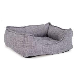 Produktbilde av hundeseng med kant stor grå.