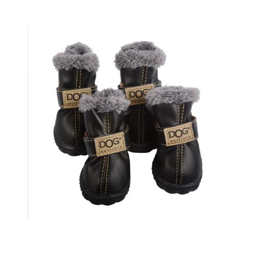 Produktfoto av 4 stk vintersko til hund sorte