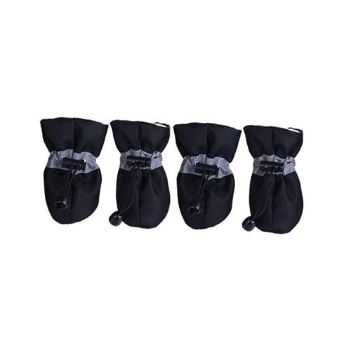 Produktfoto av 4 stk hundesokker med refleks sort