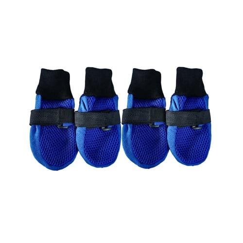 Produktfoto av pustende hundesokker blå