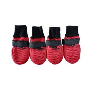 Produktfoto av pustende hundesokker rød