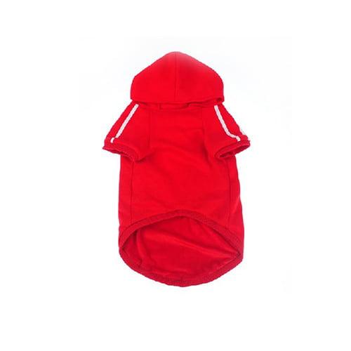 Produktfoto adidog hettegenser rød