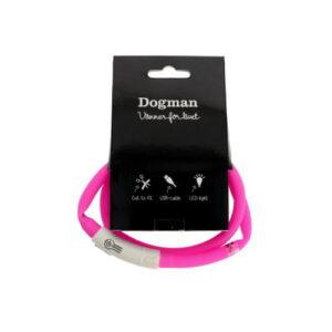 Produktfoto av LED-ring halsbånd til hund, rosa